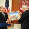 Austin Burke auctions his original artwork at the Scranton Cultural Center