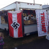 Photo of Bloomsburg Fair vendor with Nazi flag hung next to Trump flag goes viral