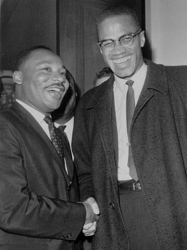 Free play depicts 'The Meeting' of Martin Luther King, Jr. and Malcolm X at Misericordia in Dallas on Jan. 19