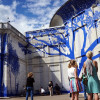 Tape Art Crew creates temporary mural at Wilkes University, displays work at Wilkes-Barre Art Block on July 20