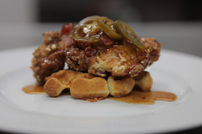 RECIPE: Peculiar Chicken and Waffles