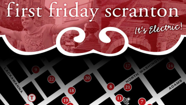 First Friday Scranton map for July 4, 2014