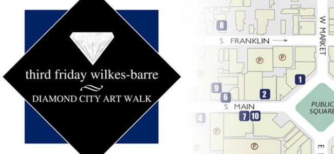 Third Friday Wilkes-Barre map for Aug. 15, 2014