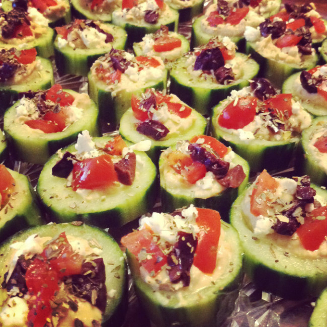 QUICK APPS & FOOTBALL SNAPS: Week 1 – Mediterranean cucumber cups