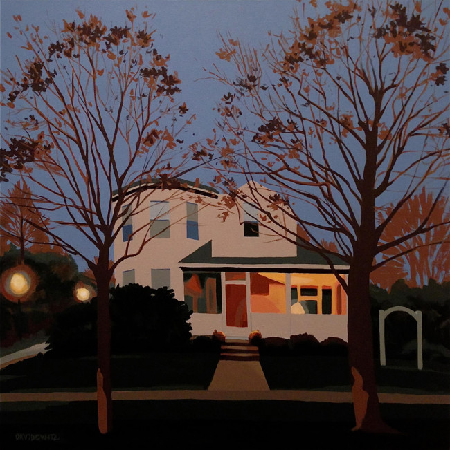 Everyday beauty of NEPA's suburban landscapes captured in realistic, yet abstract paintings