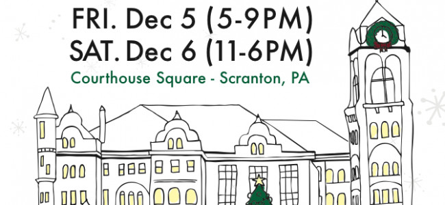 Do your holiday shopping with local businesses at Holiday on the Square in Scranton