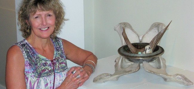 Keystone professor's hubcap art given second spin in Virginia landfill exhibit