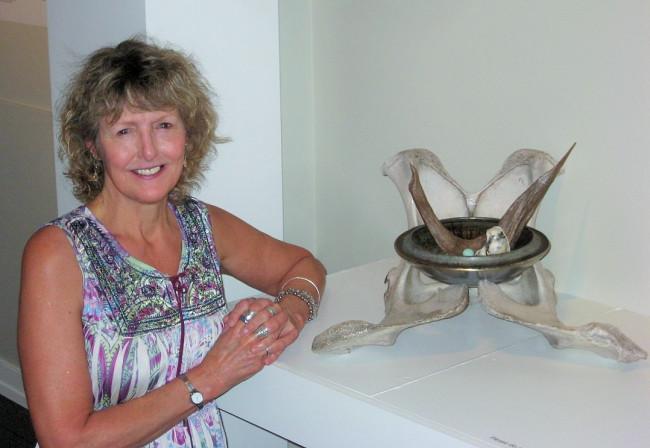Keystone professor's hubcap art given second spin in Virginia landfill exhibit