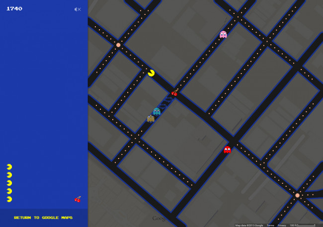 Play 'Pac-Man' in the streets of Scranton, Wilkes-Barre, or anywhere with Google Maps