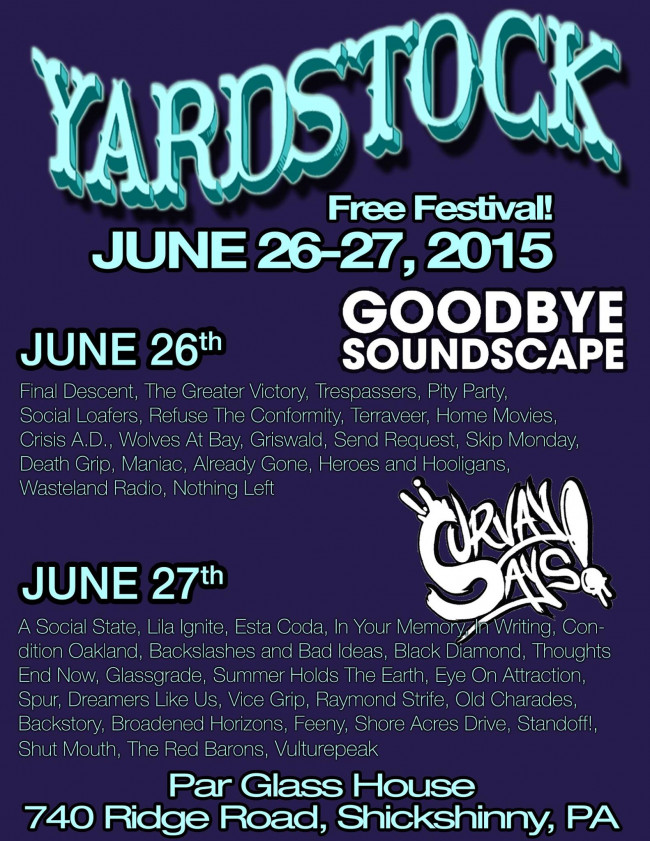 STREAMING: Listen to tracks from every Yardstock 2015 band, Day 2