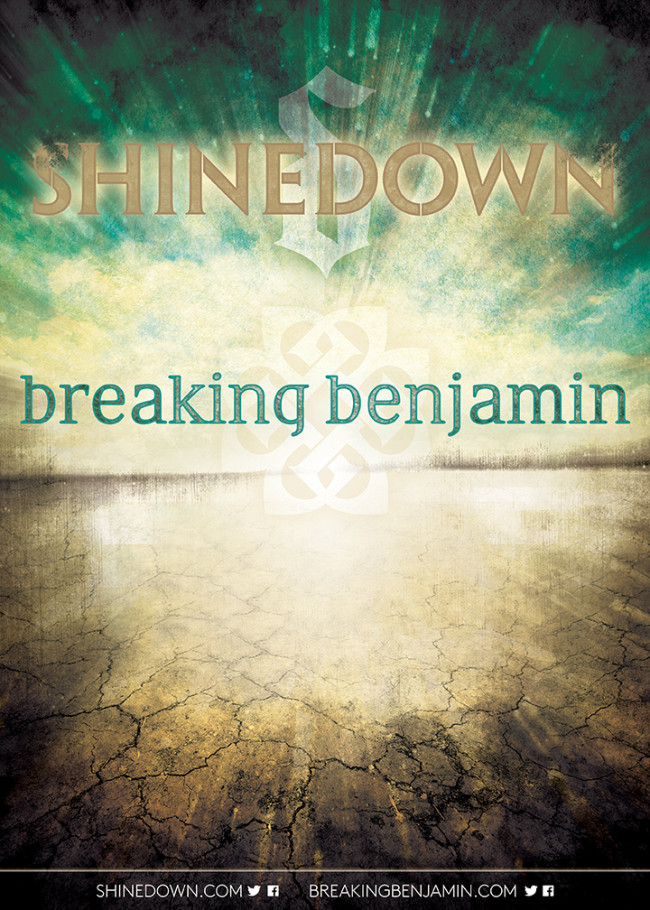 Breaking Benjamin and Shinedown announce co-headlining U.S. tour, with stop in State College on Nov. 20