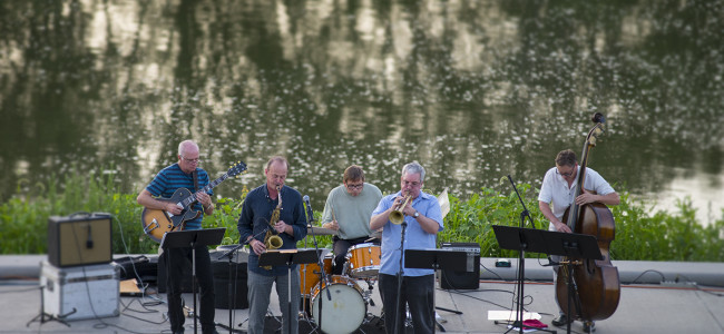 PHOTOS: Jazz on the Wilkes-Barre River Common with David Bixler Quintet and Wyoming Seminary, 07/23/15