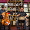IN THE OFFICE: Steve Werner and Dan King – improvised world fusion with handpan and cello
