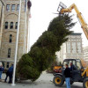 Lackawanna County lighting Courthouse Christmas tree with carols and hot chocolate on Dec. 1