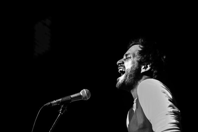 Dave Matthews Band opener Nat Osborn performs at Hawley Silk Mill on Jan. 9