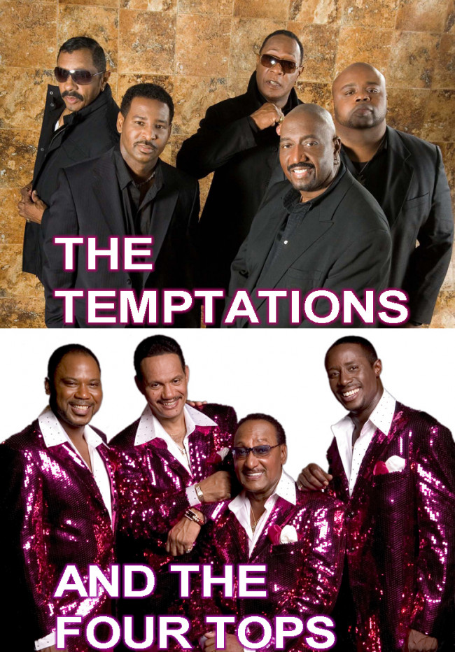 Motown legends The Temptations and The Four Tops perform together at Sands Bethlehem Event Center on March 25