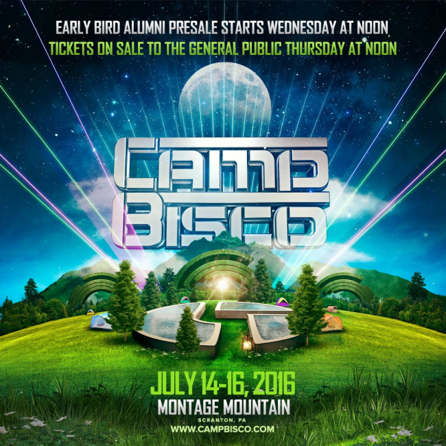 It's official – Camp Bisco returns to The Pavilion at Montage Mountain in Scranton July 14-16