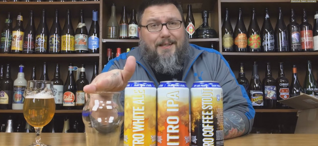 MASSIVE BEER REVIEWS: Nitro White Ale, IPA, and Coffee Stout by Samuel Adams