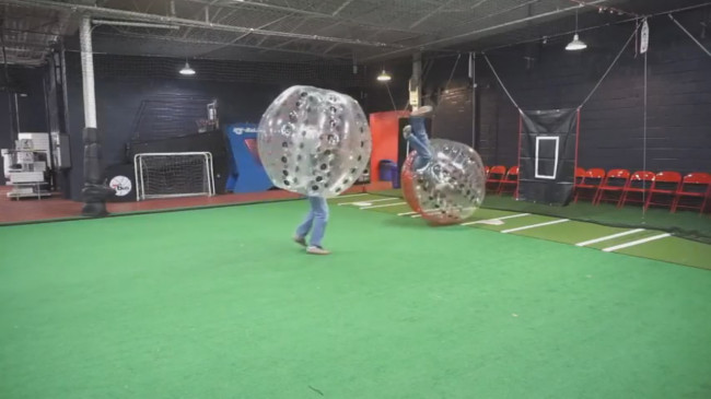 NEPA GAMING CHALLENGE: Getting knocked around in 'SoulCalibur II' and KnockerBall (bubble soccer)