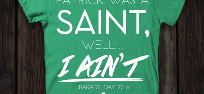 Saintly 2016 Parade Day t-shirt benefits Electric City Music Conference in Scranton