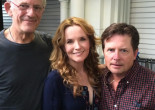 'Back to the Future' stars Michael J. Fox, Christopher Lloyd, and Lea Thompson meeting fans at 2016 Wizard World Philly