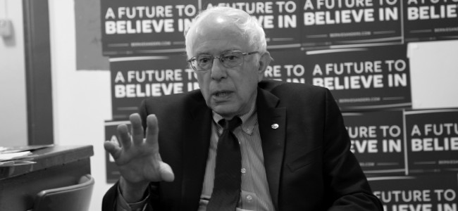 EXCLUSIVE: 10 minutes with Bernie Sanders in a basement dressing room in Scranton