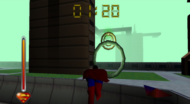 TURN TO CHANNEL 3: Kryptonite is the least of gamers' problems in 'Superman' for Nintendo 64