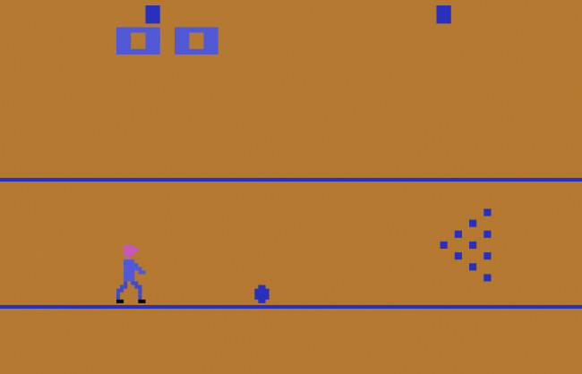 TURN TO CHANNEL 3: 'Bowling' for the Atari 2600 returns you to a simpler time in gaming