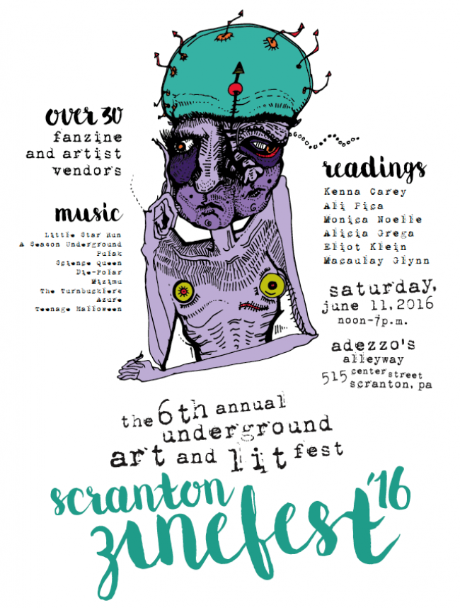 Scranton Zine Fest fills downtown alleyway of Adezzo with art, music, poetry, and literature on June 11