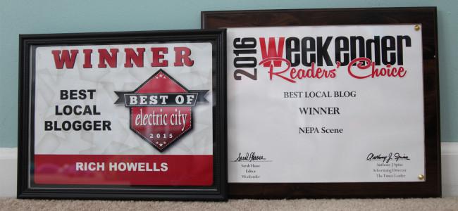 Weekender and Electric City readers recognize NEPA Scene as Best Blog in Northeastern Pennsylvania