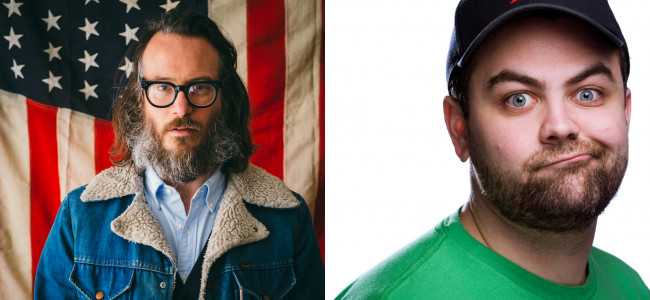 Comedians Ben Kronberg and Nick Lavallee perform with local funnymen in Scranton on July 11