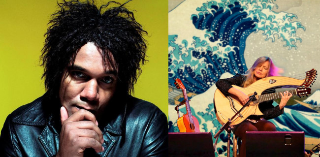 Singer/songwriter Jeffrey Gaines and harp guitar player Muriel Anderson perform in Jim Thorpe on Aug. 27