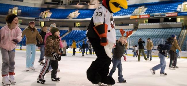 Skate on the ice of Mohegan Sun Arena in Wilkes-Barre for one day only on Dec. 10