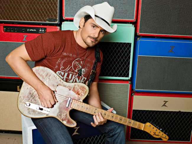 Country superstar Brad Paisley will be 'Amplified' at Mohegan Sun Arena in Wilkes-Barre on Feb. 16