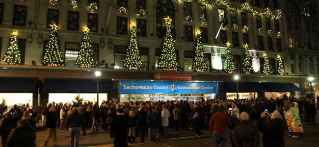 Globe Store lights up for Christmas on Dec. 1, kicking off ScrantonMade Holiday Market Dec. 1-3