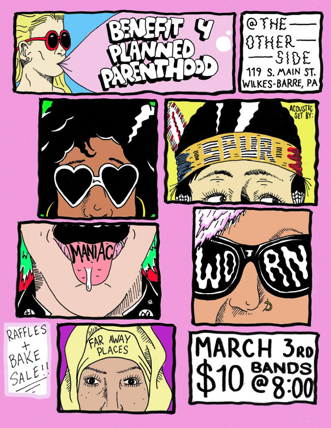 NEPA bands play benefit show for Planned Parenthood at The Other Side in Wilkes-Barre on March 3