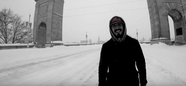 Jordan Ramirez braves Winter Storm Stella for one-take music video in deserted Wilkes-Barre