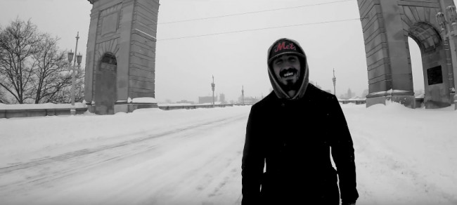 Jordan Ramirez braves Winter Storm Stella for one-take music video in deserted Wilkes-Barre