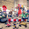 Theatrical brass band Rhythmic Circus tap dances into Kirby Center in Wilkes-Barre on April 30