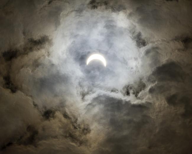 PHOTOS: Solar eclipse view from Scranton, 08/21/17