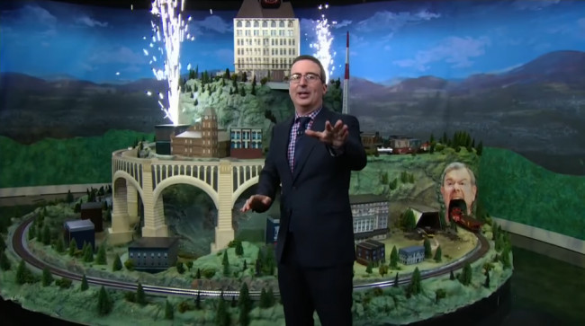 See John Oliver's 'irresponsibly large' Scranton train set at Trolley Museum for free Sept. 22-24