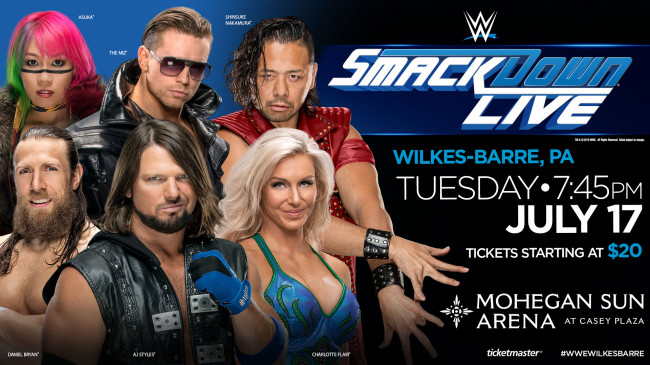 After sold-out Wilkes-Barre event, 'WWE SmackDown' returns to Mohegan Sun Arena on July 17