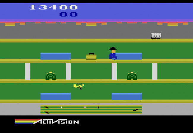 TURN TO CHANNEL 3: Though simple, 'Keystone Kapers' is criminally addictive on Atari 2600