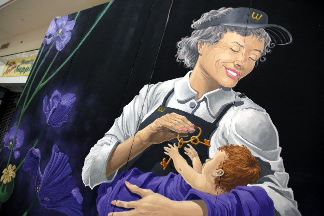 Striking mural in Marketplace at Steamtown depicts Scranton's opioid epidemic in new light