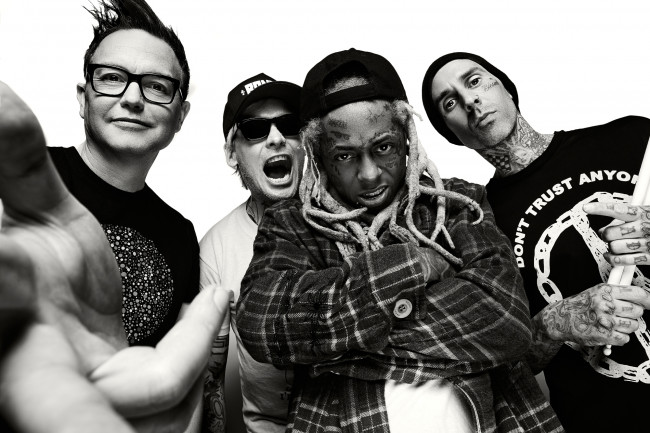 Blink-182 and Lil Wayne play together with Neck Deep at Hersheypark Stadium on July 5