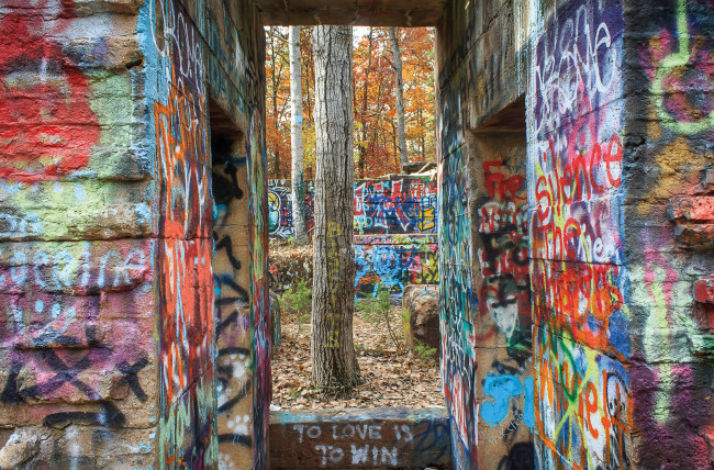 Explore 'Graffiti Scapes' of Mid-Atlantic ghost towns at Penn College exhibit in Williamsport through Oct. 6