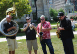 PHOTOS: Indigo Moon Brass Band, Arts on the Square, 07/26/14