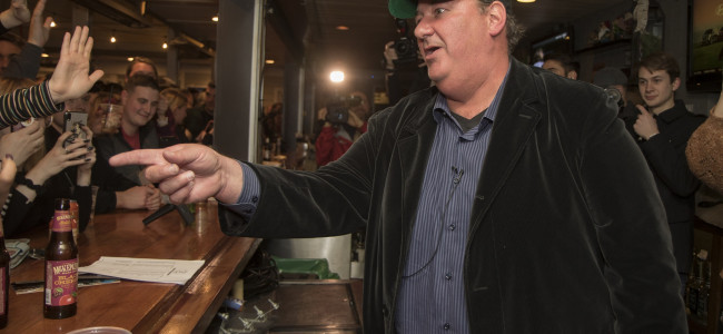 PHOTOS: 'The Office' star Brian Baumgartner visits The Bog and Backyard Ale House in Scranton, 01/23/20