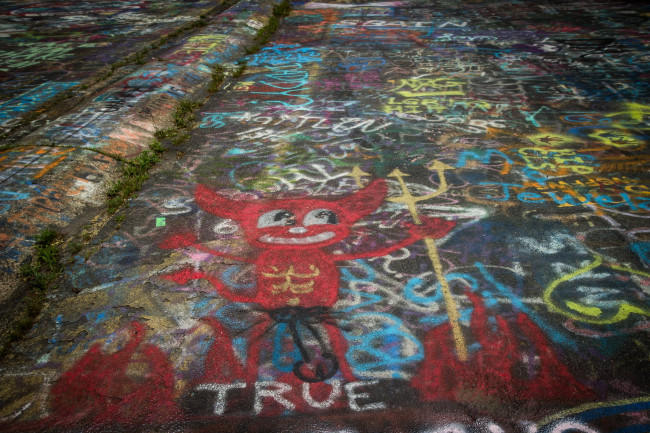 Centralia's Graffiti Highway is closed and covered with dirt to drive away visitors during coronavirus pandemic