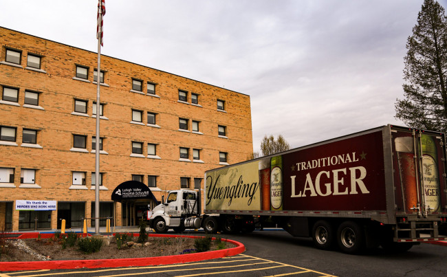 Yuengling delivers free beer to Lehigh Valley Hospital employees in Pottsville